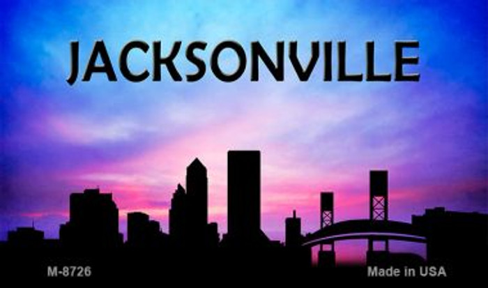 Jacksonville Silhouette Wholesale Novelty Metal Magnet