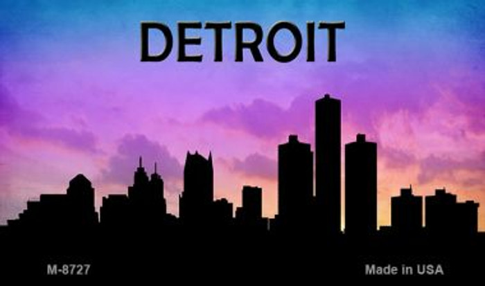 Detroit Silhouette Wholesale Novelty Metal Magnet