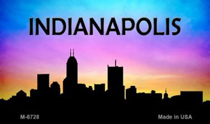 Indianapolis Silhouette Wholesale Novelty Metal Magnet