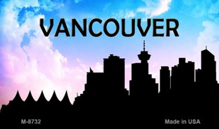 Vancouver Silhouette Wholesale Novelty Metal Magnet