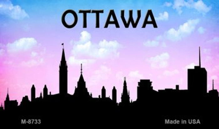 Ottawa Silhouette Wholesale Novelty Metal Magnet
