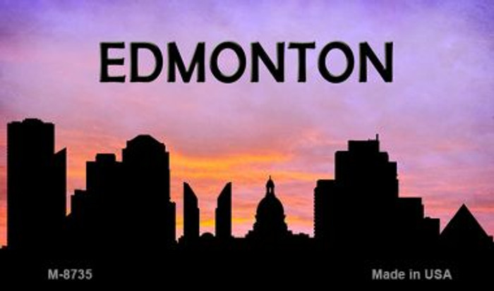 Edmonton Silhouette Wholesale Novelty Metal Magnet