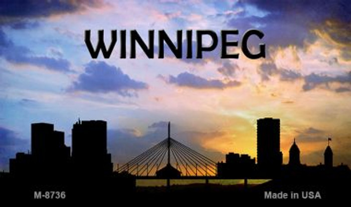 Winnipeg Silhouette Wholesale Novelty Metal Magnet
