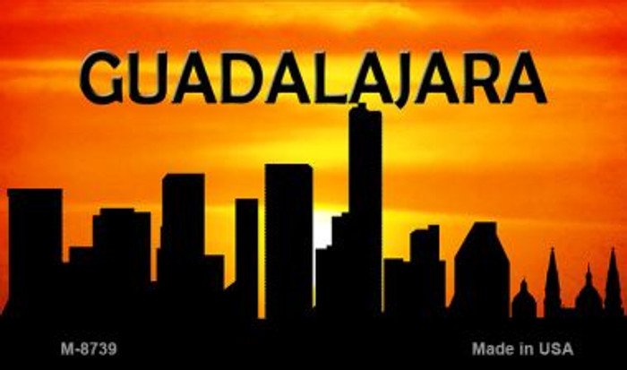 Guadalajara Silhouette Wholesale Novelty Metal Magnet