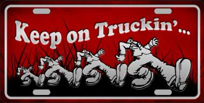 Keep On Trucking Wholesale Metal Novelty License Plate