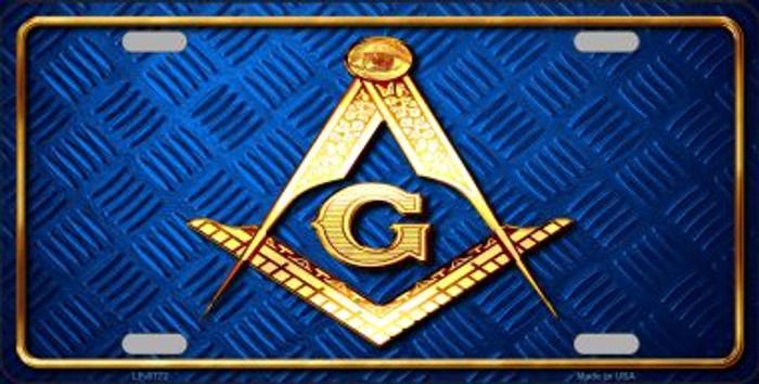 Freemasonry Wholesale Metal Novelty License Plate