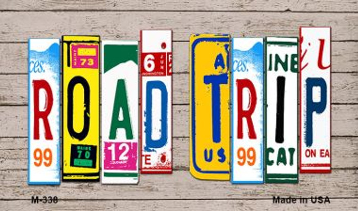 Road Trip Wood License Plate Art Wholesale Novelty Metal