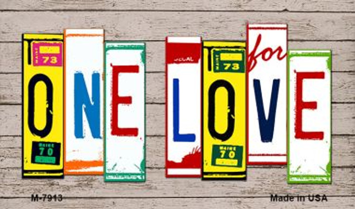 One Love License Plate Art Wholesale Novelty Metal Magnet