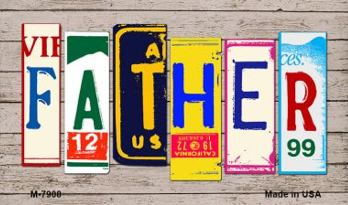 Father License Plate Art Wholesale Novelty Metal Magnet