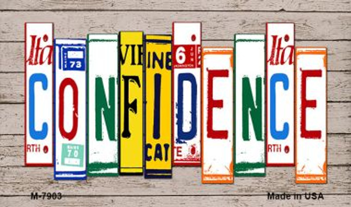 Confidence License Plate Art Wholesale Novelty Metal Magnet