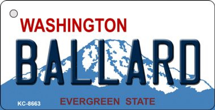 Ballard Washington Background Wholesale Novelty Key Chain