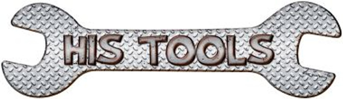 His Tools Wholesale Novelty Metal Wrench Sign
