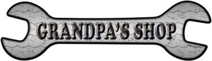 Grandpas Shop Wholesale Novelty Metal Wrench Sign