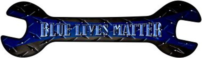 Blue Lives Matter Wholesale Novelty Metal Wrench Sign