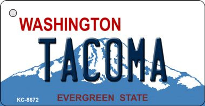 Tacoma Washington Background Wholesale Novelty Key Chain
