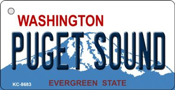 Puget Sound Washington Background Wholesale Novelty Key Chain