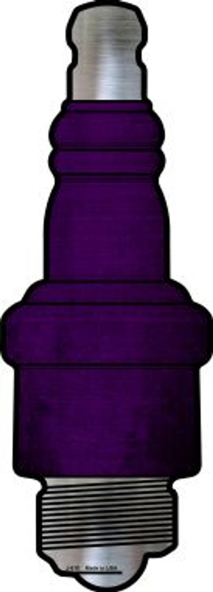 Purple Oil Rubbed Wholesale Novelty Metal Spark Plug Sign J-010