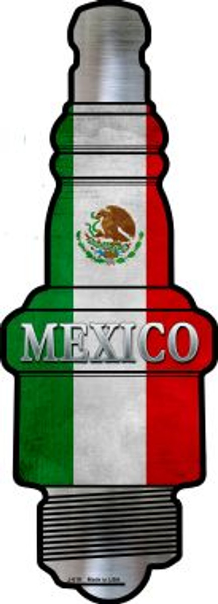 Mexico Wholesale Novelty Metal Spark Plug Sign J-019