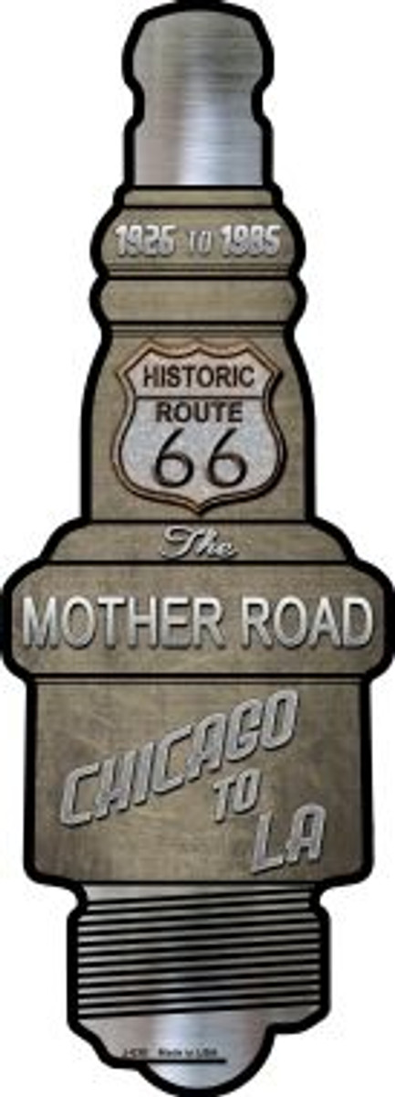 Route 66 Wholesale Novelty Metal Spark Plug Sign J-030
