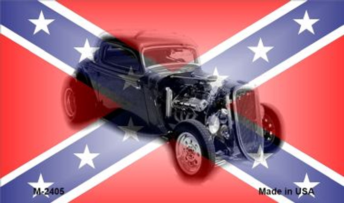 Confederate Hotrod Wholesale Novelty Metal Magnet