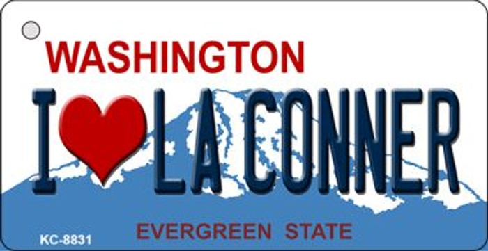 I Love La Conner Washington Background Wholesale Novelty Key Chain