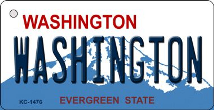 Washington State Background Wholesale Novelty Key Chain