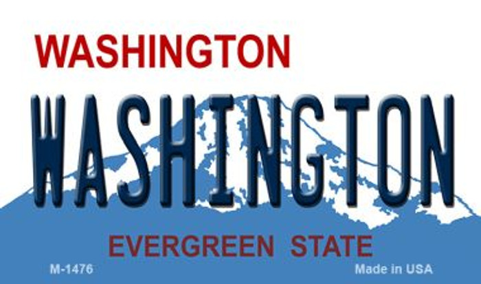 Washington State Background Wholesale Novelty Metal Magnet