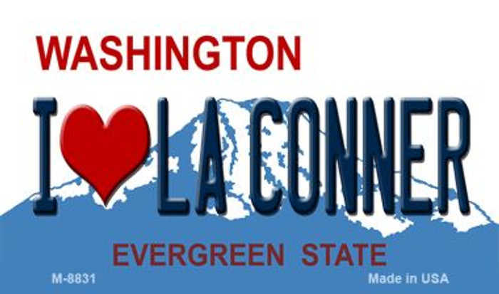 I Love La Conner Washington Background Wholesale Novelty Metal Magnet