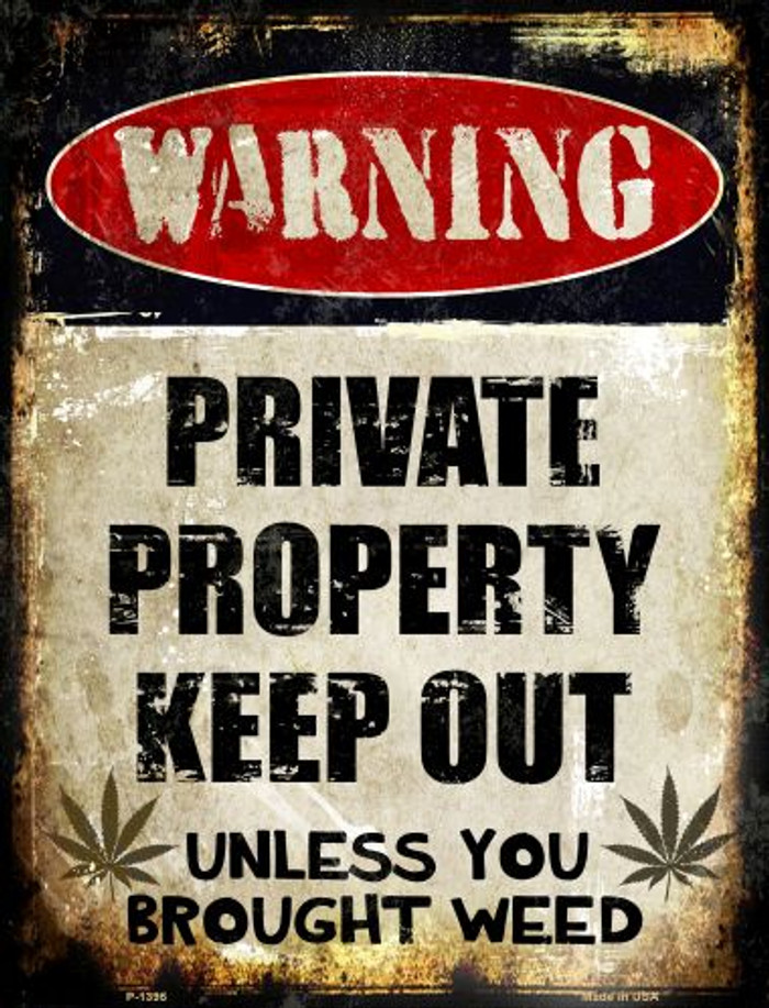 Private Property Wholesale Metal Novelty Parking Sign