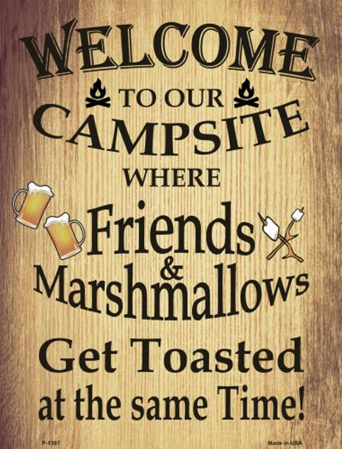 Campsite Wholesale Metal Novelty Parking Sign