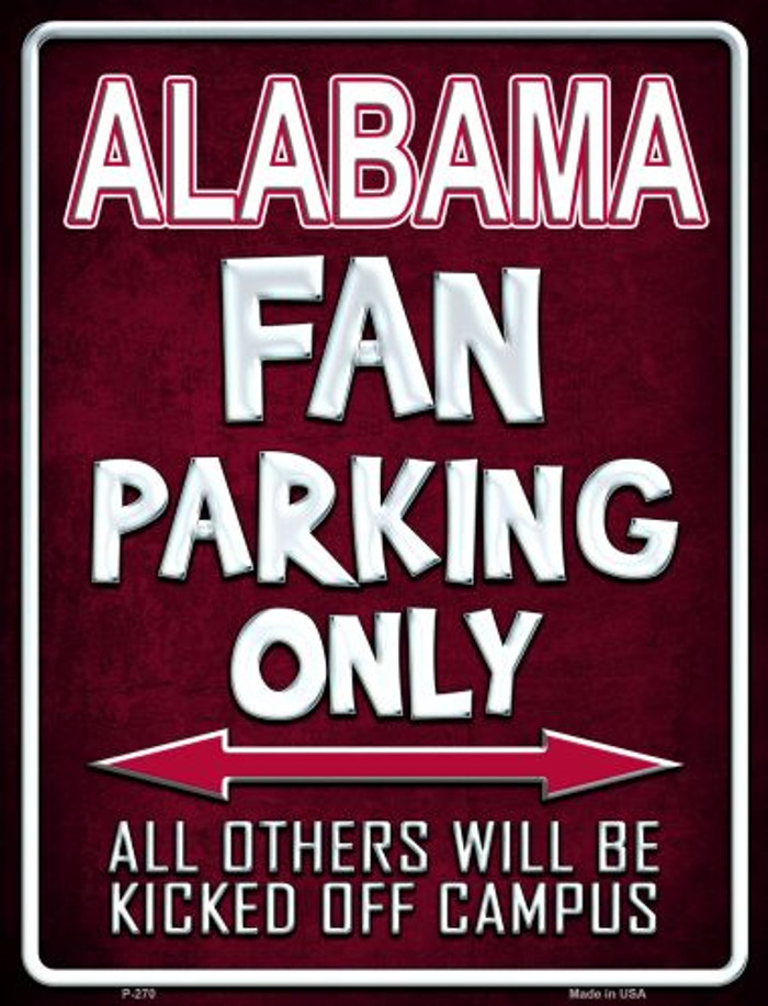 Alabama Wholesale Metal Novelty Parking Sign