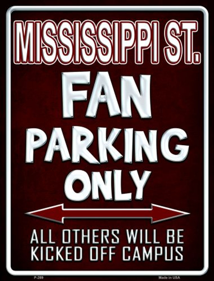 Mississippi State Wholesale Metal Novelty Parking Sign
