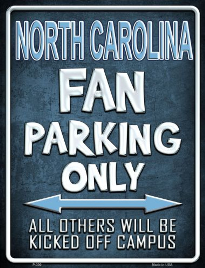 North Carolina Wholesale Metal Novelty Parking Sign
