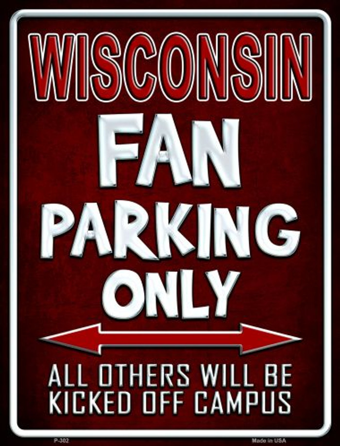Wisconsin Wholesale Metal Novelty Parking Sign