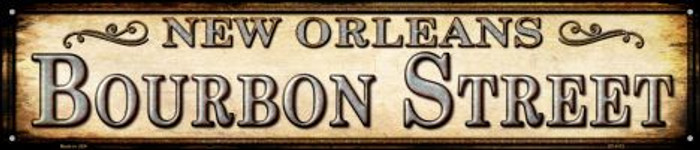 Bourbon Street New Orleans Wholesale Novelty Metal Street Sign ST-1113