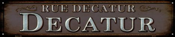 Rue Decatur Wholesale Novelty Metal Street Sign ST-1117