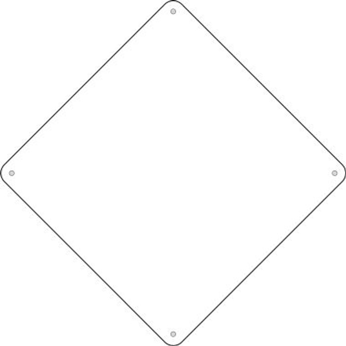 "White Dye Sublimation 16.5"" Wholesale Novelty Metal Crossing Sign"
