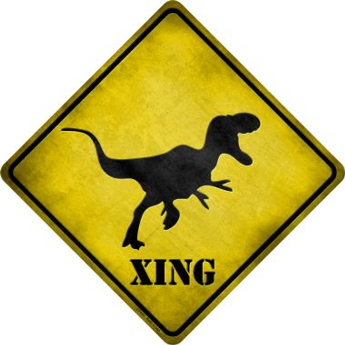 T-Rex Xing Wholesale Novelty Metal Crossing Sign