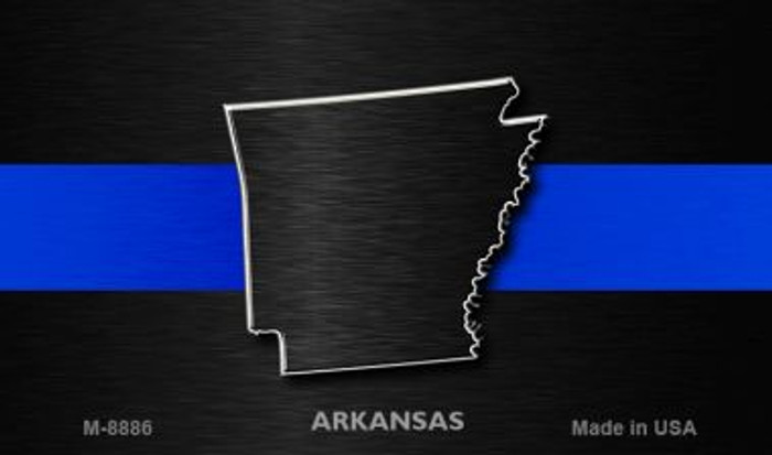Arkansas Thin Blue Line Wholesale Novelty Metal Magnet