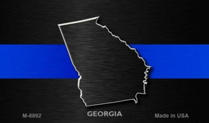 Georgia Thin Blue Line Wholesale Novelty Metal Magnet