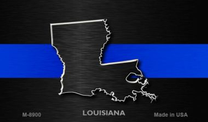 Louisiana Thin Blue Line Wholesale Novelty Metal Magnet