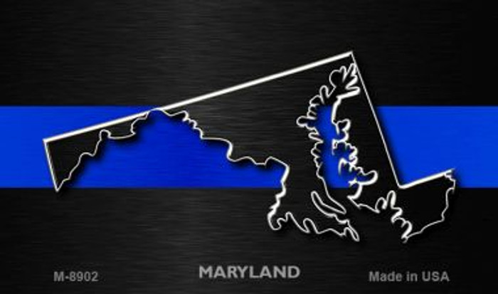 Maryland Thin Blue Line Wholesale Novelty Metal Magnet