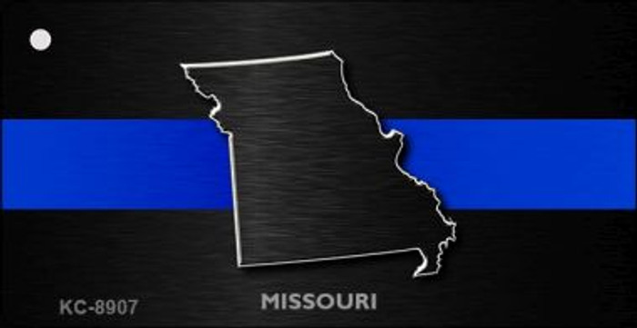 Missouri Thin Blue Line Wholesale Novelty Key Chain