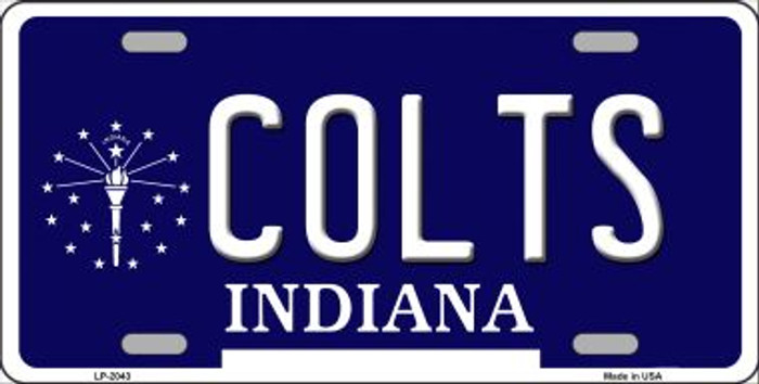 Colts Indiana State Background Novelty Wholesale Metal License Plate LP-2043