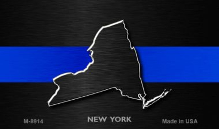 New York Thin Blue Line Wholesale Novelty Metal Magnet