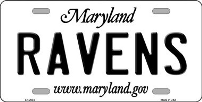 Ravens Maryland State Background Novelty Wholesale Metal License Plate LP-2045
