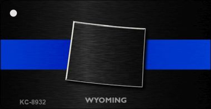 Wyoming Thin Blue Line Wholesale Novelty Key Chain