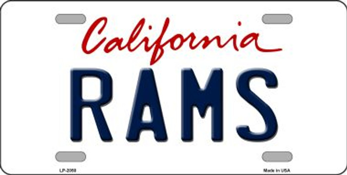 Rams California State Background Novelty Wholesale Metal License Plate