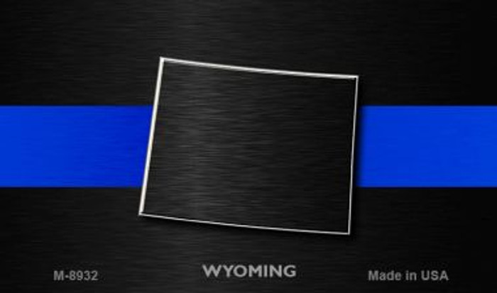 Wyoming Thin Blue Line Wholesale Novelty Metal Magnet