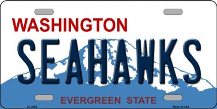 Seahawks Washington State Background Novelty Wholesale Metal License Plate LP-2063